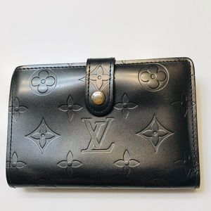 LOUIS VUITTON Matte Vernis French Purse Wallet
